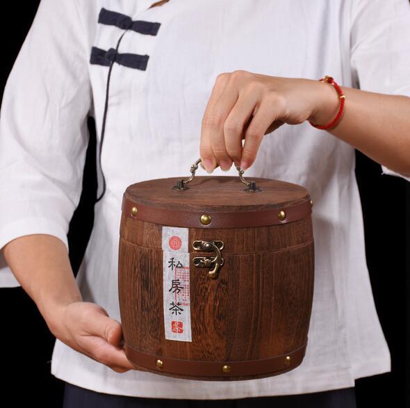 正山小种圆木桶礼盒装 蜜香型小种红茶250g 实木桶装