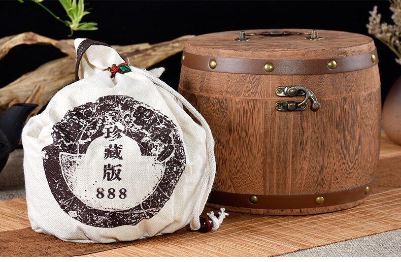 茶化石云南普洱茶圆桶装 原味 碎银子干仓陈年老普洱500g