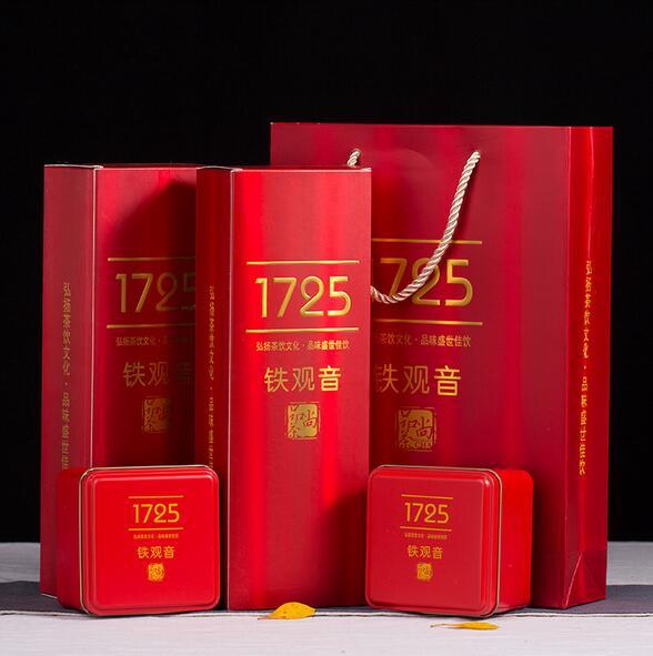 新茶铁观音礼盒装1725烟条清香型铁观音高山乌龙茶