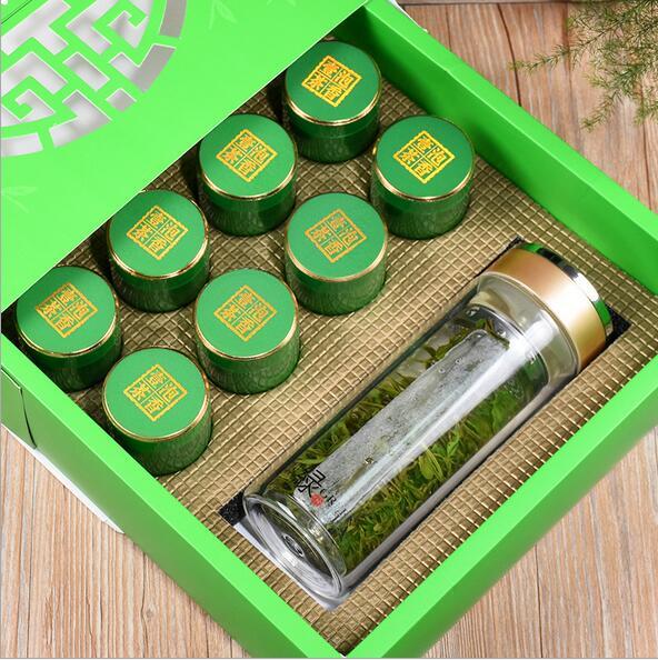 送茶具铁观音茶叶安溪浓香铁观音礼盒装绿色8罐200g