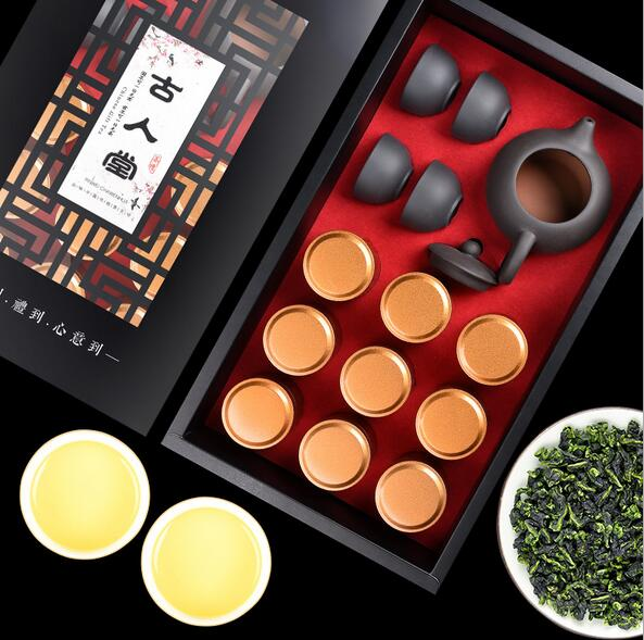 铁观音9罐150g清香型礼盒装赠茶具
