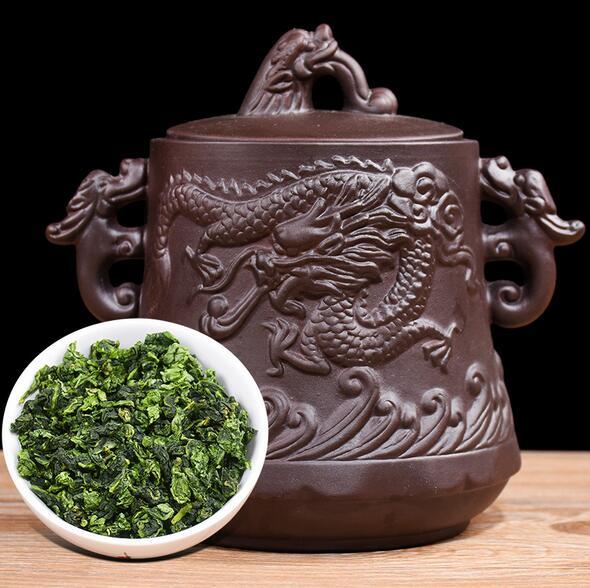 铁观音茶叶立体龙纹紫砂罐清香型高山乌龙茶